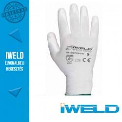 IWELD White Frog PU mártott védőkesztyű, fehér - 9-es