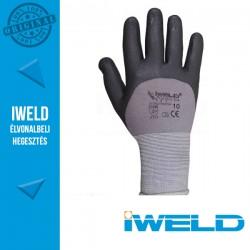 IWELD Gekko Lycra/nylon, 3/4 nitril mártott pöttyös védőkesztyű - 10-es