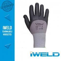 IWELD Gekko Lycra/nylon, 3/4 nitril mártott pöttyös védőkesztyű - 9-es