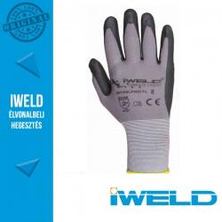 IWELD Gekko Light Lycra/nylon, nitril tenyér mártott pöttyös védőkesztyű - 8-as