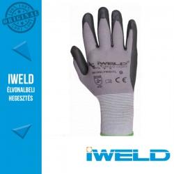 IWELD Gekko Light Lycra/nylon, nitril tenyér mártott pöttyös védőkesztyű - 9-es