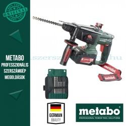 Metabo KHA 18 LTX Akkus fúrókalapács + 8 részes SDS-plus fúrókészlet