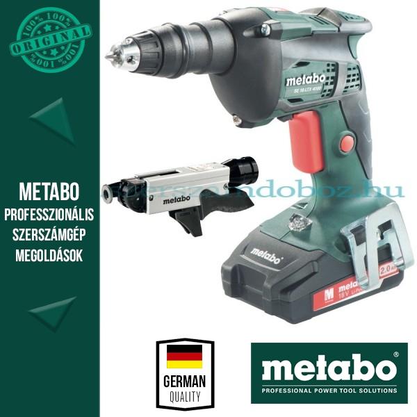 Metabo SE 18 LTX 4000 Akkus csavarbehajtó + SM 5-55 Csavarozótár
