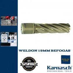 Karnasch Hss-Xe magfúró WELDON 19mm | 55/87mm hossz GOLD LINE-55