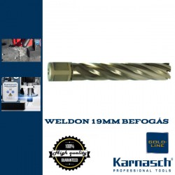 Karnasch Hss-Xe magfúró WELDON 19mm | 80/113mm hossz GOLD LINE-80