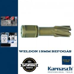 Karnasch HM magfúró WELDON 19mm | 40/73mm hossz HARD LINE-40