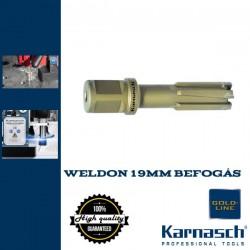 Karnasch HM magfúró WELDON 19mm | 50/87mm hossz RAIL LINE-50