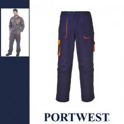 PORTWEST TX11 - Texo kétszínű nadrág - navy/ narancs