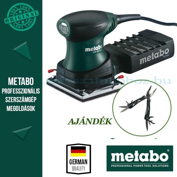 Metabo FSR 200 Intec Rezgőcsiszoló + AJÁNDÉK Multitool