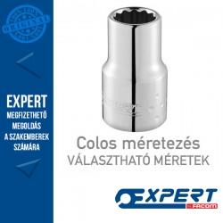 """Expert (by FACOM) 1/4"""" 12 pontos standard dugókulcsok (colos méretek)"""