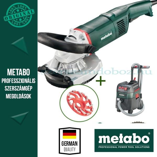 Metabo RS 17-125 Renovációs csiszoló + beton gyémánt fazéktárcsa + ASR 35 L ACP Porszívó