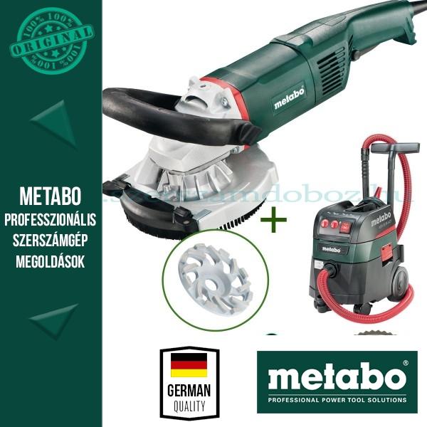 Metabo RS 17-125 Renovációs csiszoló + abrazív gyémánt fazéktárcsa + ASR 35 M ACP Porszívó