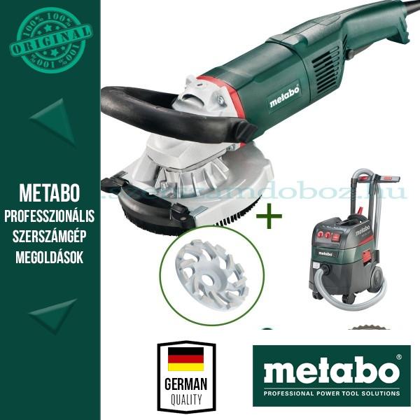 Metabo RS 17-125 Renovációs csiszoló + abrazív gyémánt fazéktárcsa + ASR 35 L ACP Porszívó