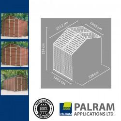 Palram Skylight 8x4 Bővítő elem (barna)