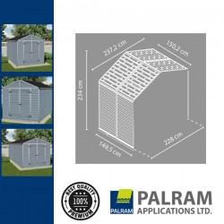 Palram Skylight 8x4 Bővítő elem (szürke)