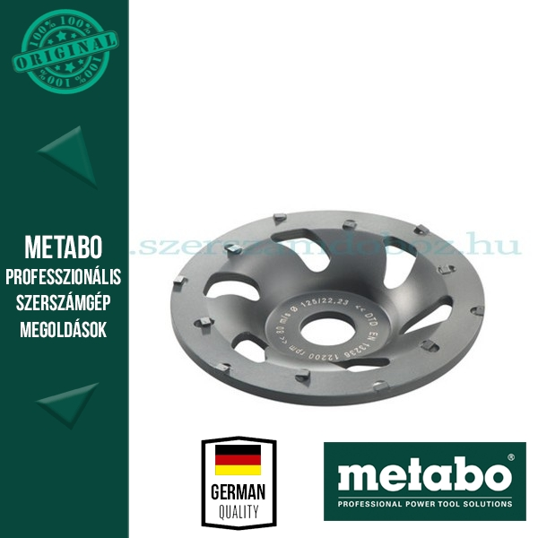Metabo gyémánt csiszolótárcsa PKD professional