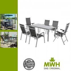 MWH Elements 6+ Kerti bútor garnitúra (1x Elements Creatop-Lite asztal + 4x Elements szék + 2x állítható Elements szék)