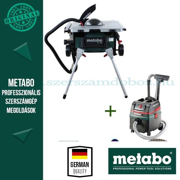 Metabo TS 254 Asztali körfűrész + ASR 25 L SC Porszívó