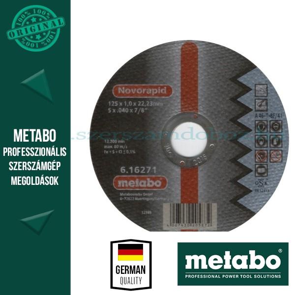 Metabo Novorapid INOX vágótárcsa