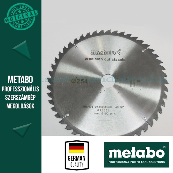 Metabo Körfűrészlap 254 mm