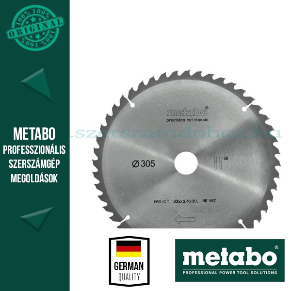 Metabo Körfűrészlap 305 mm