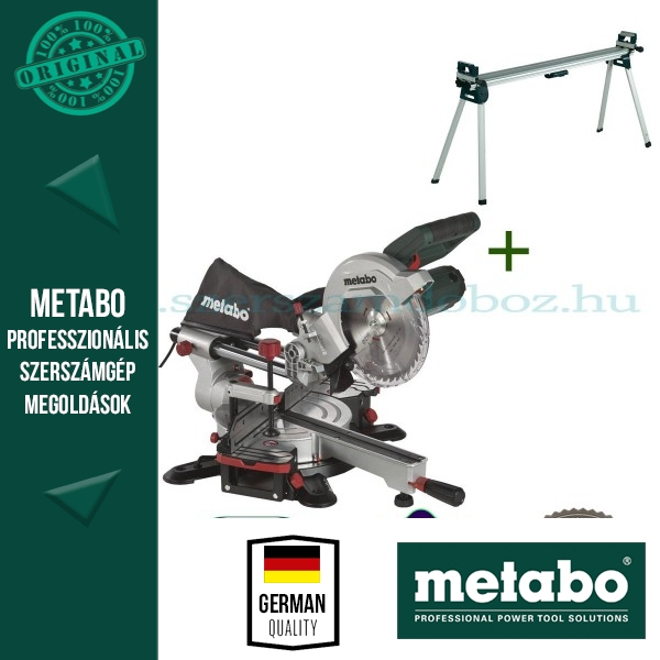 Metabo KGS 216 M Gérvágófűrész + KSU 400 Gépállvány