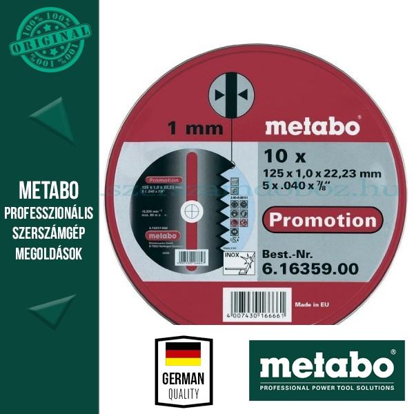 Metabo INOX vágótárcsa 10 db