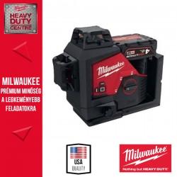 Milwaukee M12 3PL-401C Zöld 360° 3 síkú lézer