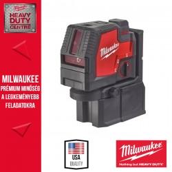 Milwaukee L4 CLLP-301C USB Újratölthető zöld keresztvonal- és pontlézer