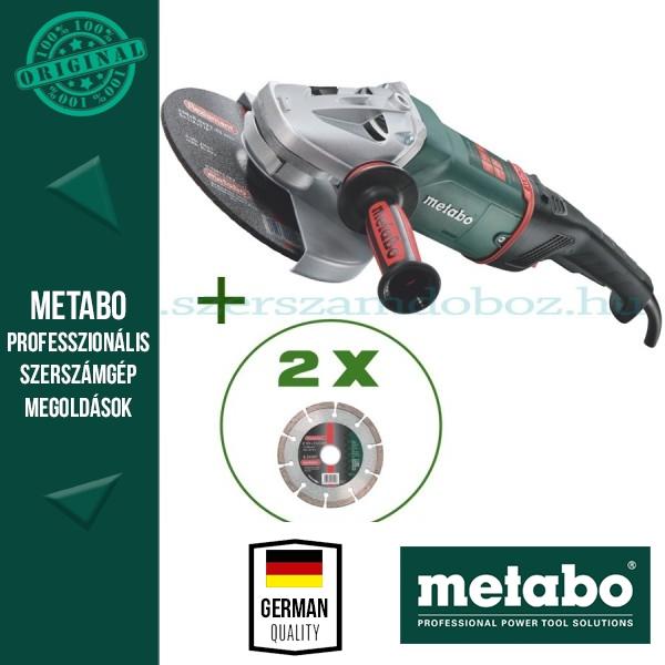 Metabo WE 24-230 MVT Sarokcsiszoló + 2 db gyémánt darabolótárcsa