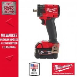 Milwaukee M18 FIW2F12-502X M18 FUEL™ 1/2″ Kompakt ütvecsavarozó biztosítógyűrűvel (2x 5.0 Ah akkuval és töltővel)