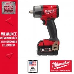 Milwaukee M18 FMTIW2F12-502X M18 FUEL™ 1/2″ Közepes nyomatékú ütvecsavarozó biztosítógyűrűvel (2x 5.0 Ah akkuval és töltővel)