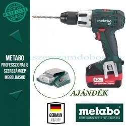 Metabo BS 18 LT Akkus fúrócsavarbehajtó + AJÁNDÉK PA 14,4-18 LED-USB adapter
