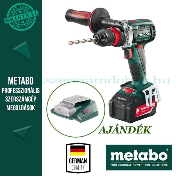 Metabo BS 18 LTX BL Quick Akkus fúrócsavarozó + AJÁNDÉK PA 14,4-18 LED-USB adapter