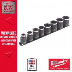 """Milwaukee SHOCKWAVE™ IMPACT DUTY 3/8"""" Dugókulcs készlet - rövid (8 db)"""