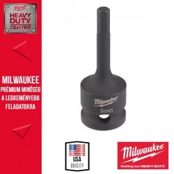 """Milwaukee HEX6 1/2″ Dugókulcs 1/2"""" Dugókulcsbetét, belső hatlapú csavarokhoz, 6 mm"""