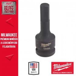 """Milwaukee HEX12 1/2″ Dugókulcs 1/2"""" Dugókulcsbetét, belső hatlapú csavarokhoz, 12 mm"""