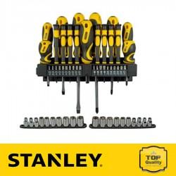 Stanley 57 részes csavarhúzó készlet fali tartóval