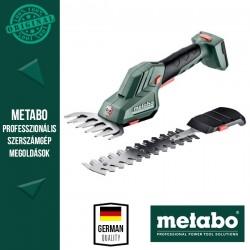 METABO POWERMAXX SGS 12 Q Akkus Fűszegély és bokorvágó olló, metaBOX 145 kofferben (akku és töltő nélkül)
