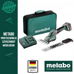 METABO POWERMAXX SGS 12 Q Akkus Fűszegély és bokorvágó olló, szerszámtáskában (1x 12 V/2,0 Ah akku, SC 30 töltő)