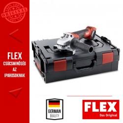 FLEX LBE 125 18.0-EC Fordulatszámszabályzós Akkumulátoros Sarokcsiszoló, fékkel 18.0 V, 125 mm (akku és töltő nélkül)