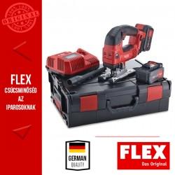 FLEX JSB 18.0-EC/5.0 SET Akkumulátoros dekopírfűrész, 18.0 V (2x 5.0 Ah akkuval és töltővel)
