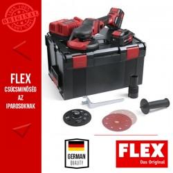 FLEX SE 125 18.0-EC/5.0 SET Akkumulátoros SUPRAFLEX csiszoló szett, 18.0 V (2x 5.0 Ah akkuval és töltővel)