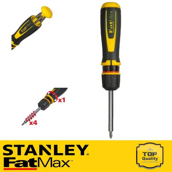 Stanley FatMax 4:1 áttételű gyorsracsnis csavarhúzó bitekkel