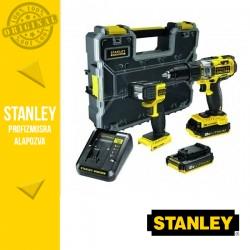STANLEY FMCK626C2-QW FATMAX Akkumulátoros gépcsomag szortimenterrel, 18V (FMC625 + FMC705 + 2x 2,0 Ah akkuval és töltővel)