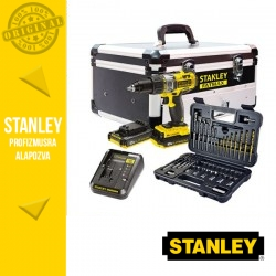 STANLEY FMCK625D2F-QW Akkumulátoros ütvefúró/csavarozó alumínium szerszámosládában, 18V (2 x 2,0 Ah akkuval és töltővel)