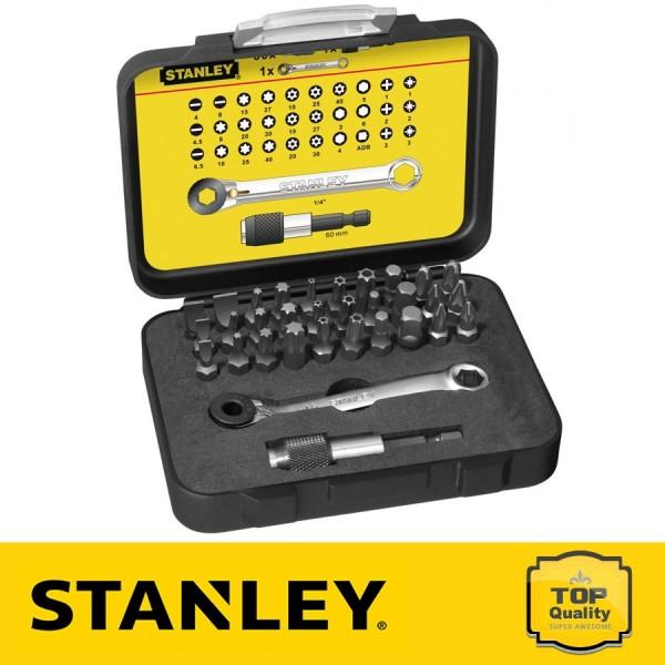 """Stanley 32 részes 1/4"""" behajtófej készlet 25 mm"""