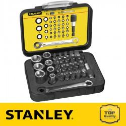 """Stanley 40 részes 1/4"""" behajtófej készlet 25 mm"""