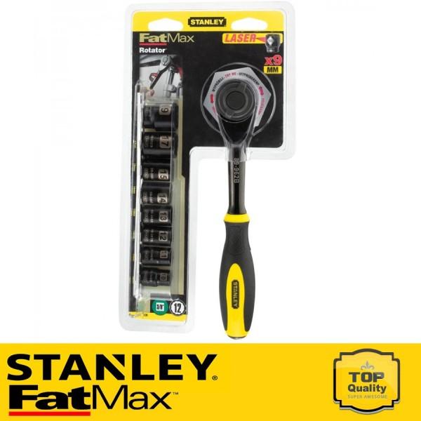 """Stanley FatMax 9 részes 3/8"""" Rotációs racsnis kar dugókulcsokkal"""