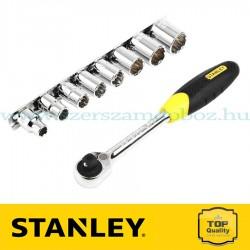 """Stanley 9 részes 3/8"""" Microtough mikroracsnis hajtókar dugókulcsokkal"""